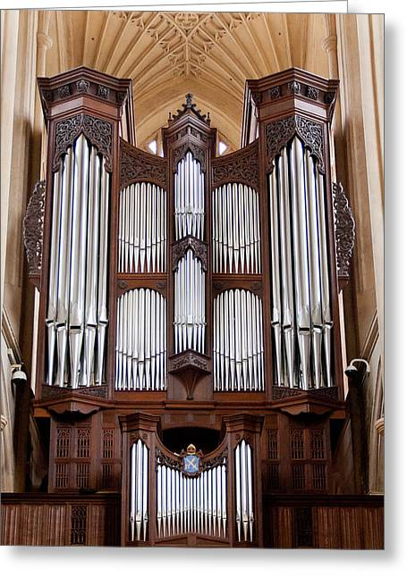 Bath Abbey Organ Greeting Card