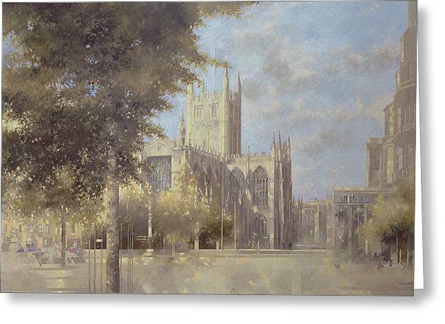 Bath Abbey Greeting Card by Peter Miller