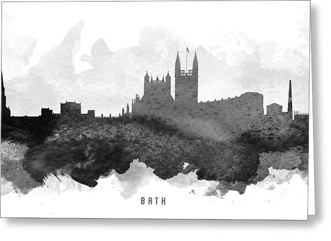 Bath Cityscape 11 Greeting Card by Aged Pixel