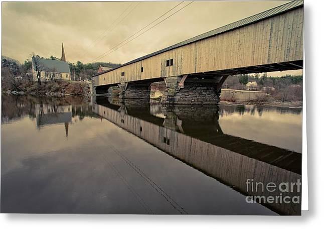 Bath Covered Bridge New Hampshire Greeting Card by Edward Fielding