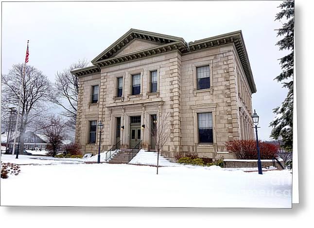 Bath Custom House In Winter Greeting Card