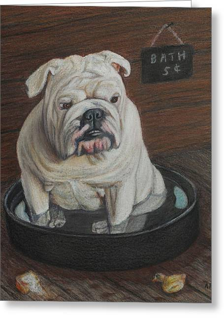 Bath Five Cents Greeting Card by Angela Finney