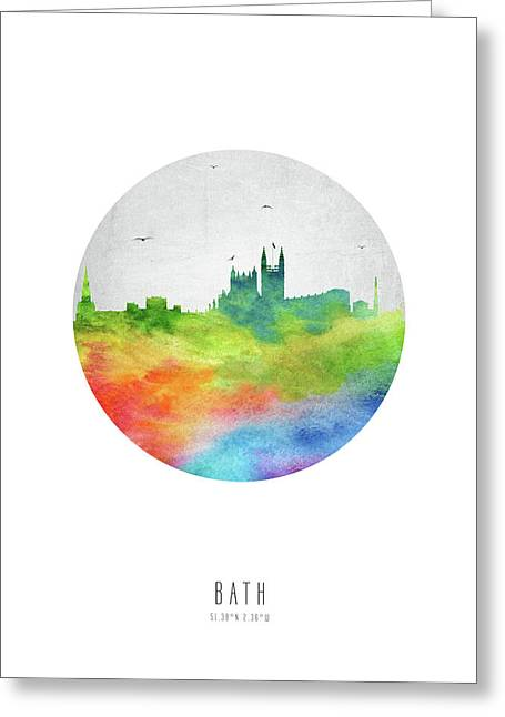 Bath Skyline Gbba20 Greeting Card