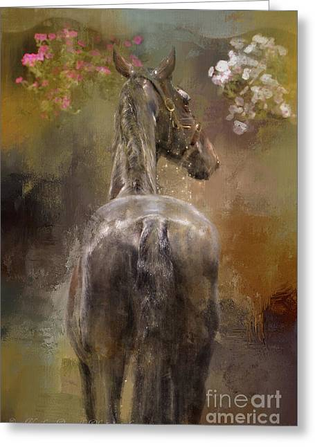 Bath Time Greeting Card by Kathy Russell