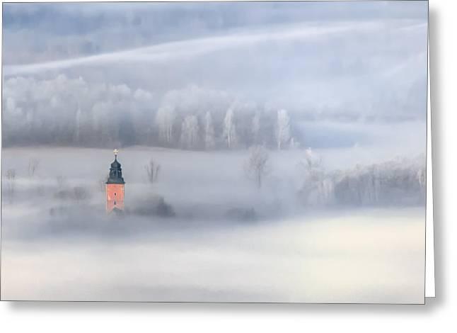 Bathed In Fog Greeting Card by Piotr Krol (bax)