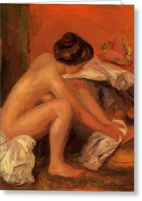 Bather Drying Her Feet 1907 Greeting Card