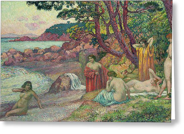 Bathers At Cap Benat, 1909 Greeting Card