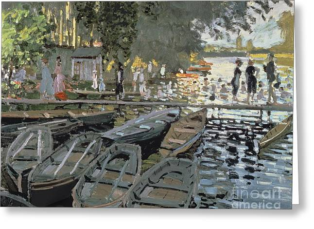 Bathers At La Grenouillere Greeting Card by Claude Monet