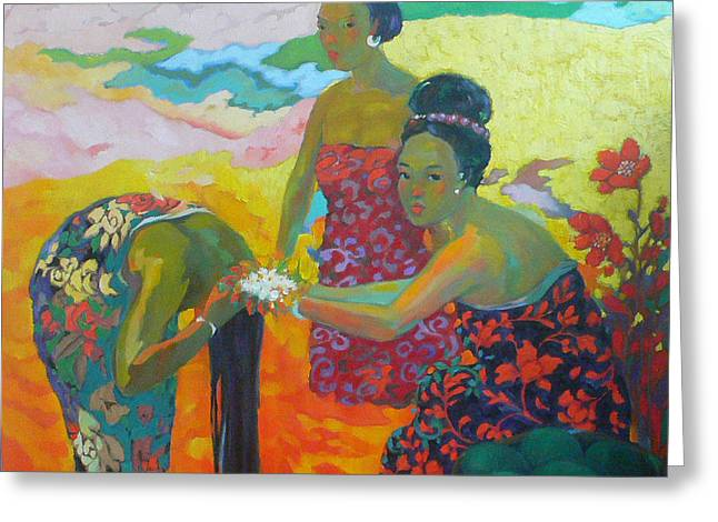 Bathing1 Greeting Card by Tung Nguyen Hoang