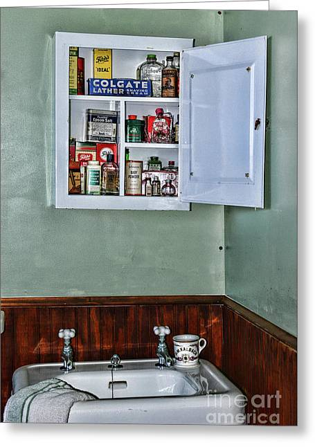 Bathroom From 1940 Greeting Card