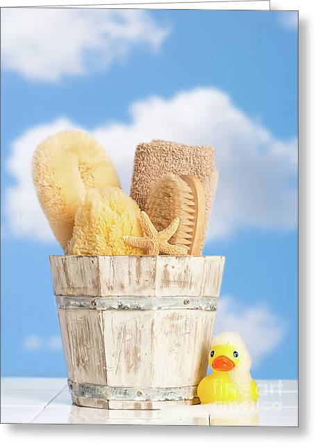 Bathroom Items Greeting Card