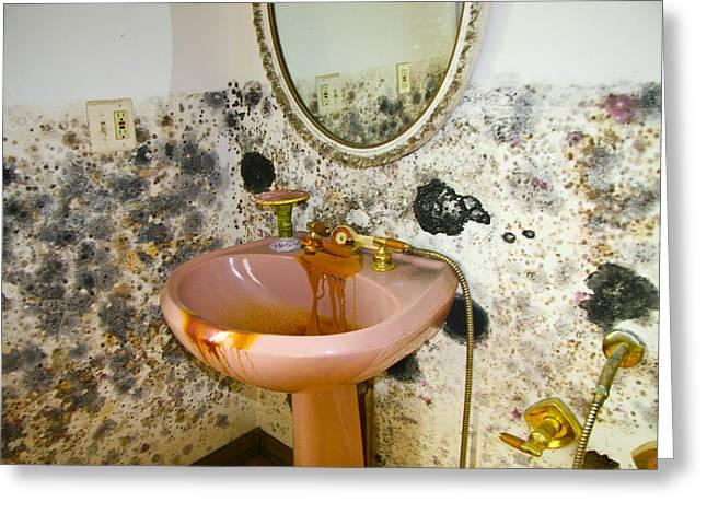Bathroom Mold Greeting Card by William Furguson