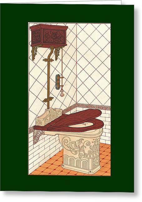 Bathroom Picture One Greeting Card