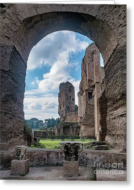 Baths Of Caracalla In Ancient Rome, Italy Greeting Card