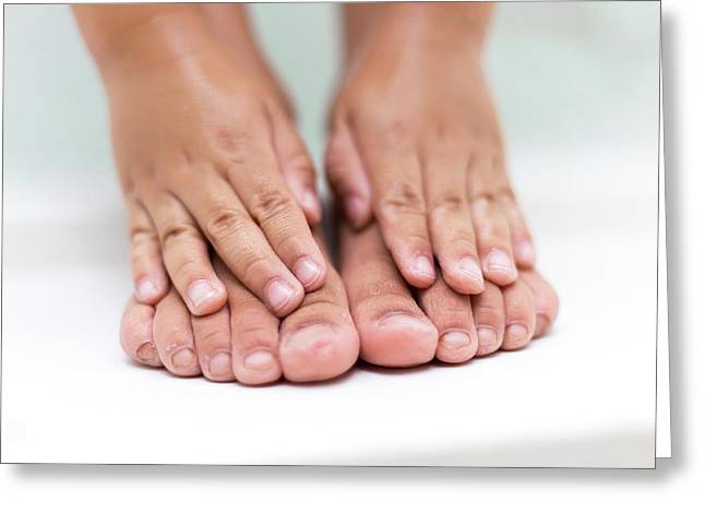 Bathtime Toes And Fingers Greeting Card
