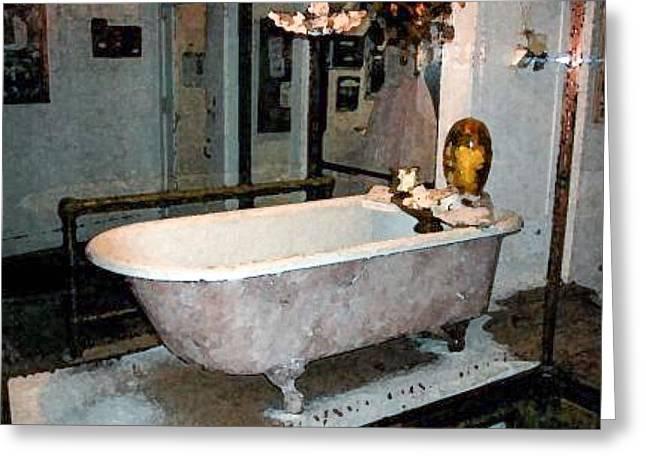 Bathtub Greeting Card by Gary Freeman