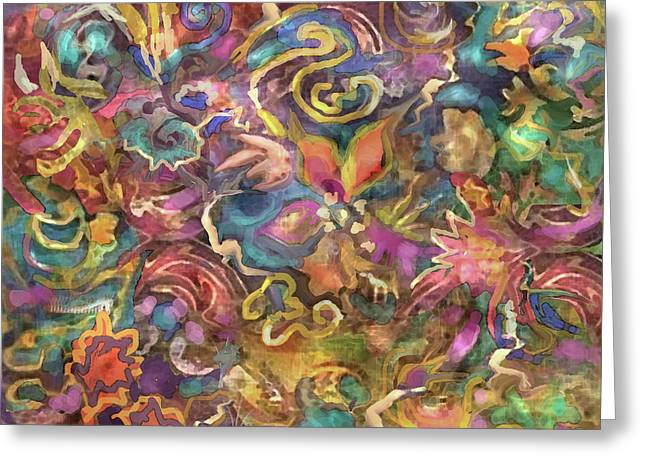 Batik Colorburst Greeting Card