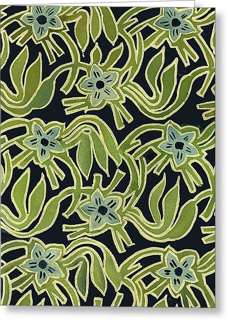 Batik Flower Greeting Card