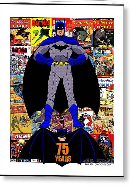 Batman 75 Greeting Card