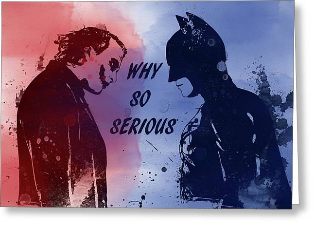 Batman And Joker Greeting Card