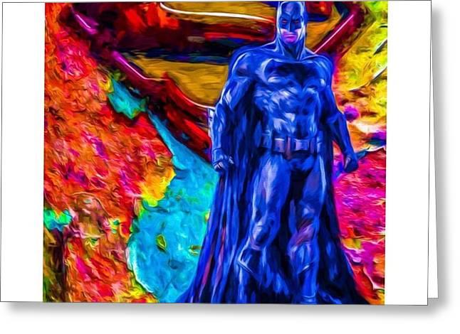 #batman #batmanvsuperman #dc #dccomics Greeting Card