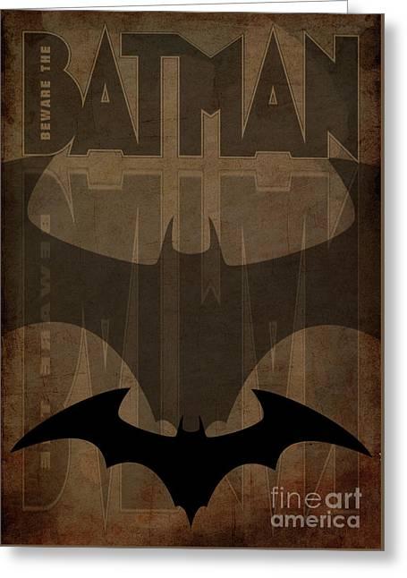 Batman Brown - Black Brown Greeting Card