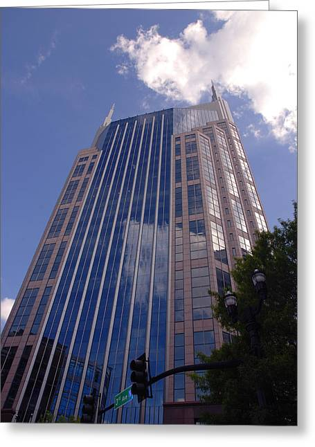 Batman Building In Down Town Nashville Greeting Card