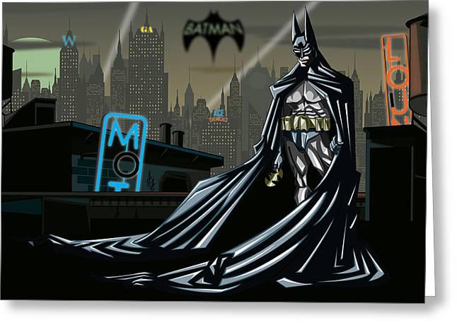 Batman Greeting Card by Jason Diesbourg
