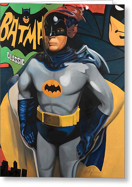 Batman Greeting Card by Karl Melton