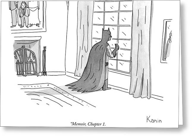 Batman Memoir Chapter 1 Greeting Card