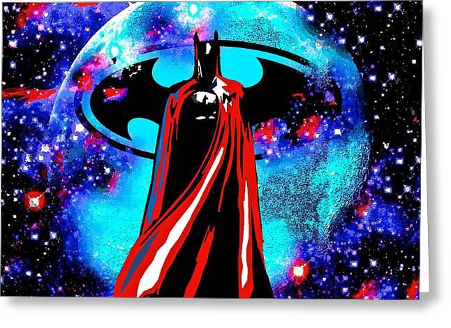 Batman Greeting Card by Saundra Myles