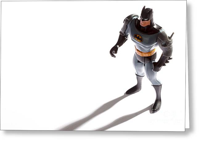 Batman Standing Strong Greeting Card by Jan Brons