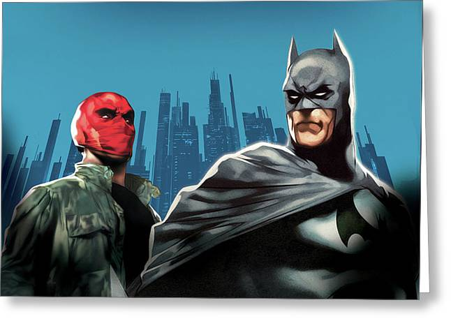 Batman Under The Red Hood 2010  Greeting Card