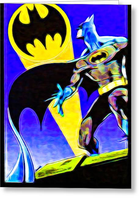 Batman's 75th Anniversary Stamps 1 Greeting Card by Lanjee Chee