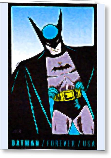 Batman's 75th Anniversary Stamps 4 Greeting Card by Lanjee Chee