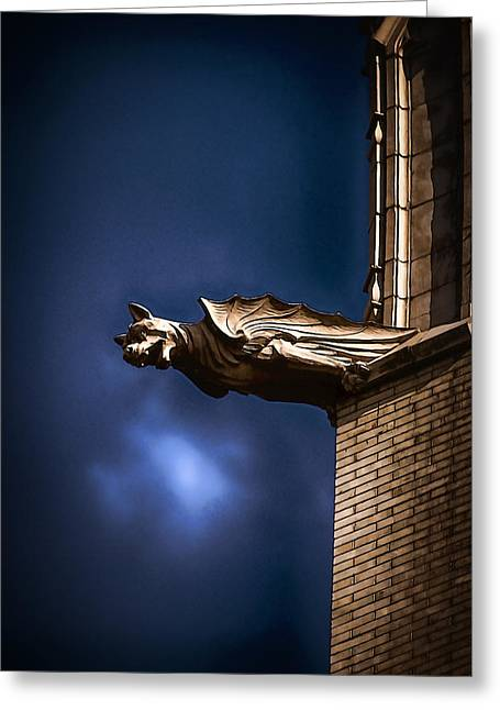 Batmans Dog Greeting Card by John Haldane