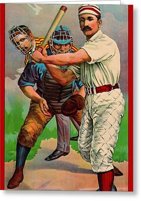 Batter Up 1895 B Greeting Card