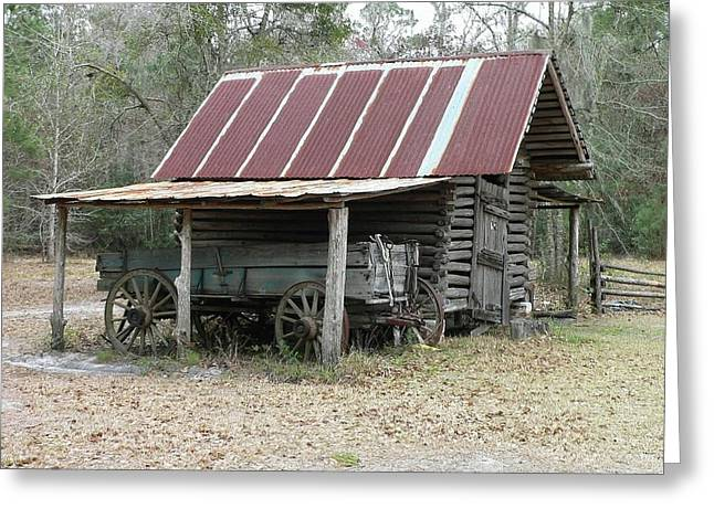 Al Powell Photography Usa Greeting Cards - Battered Barn and Weathered Wagon Greeting Card by Al Powell Photography USA