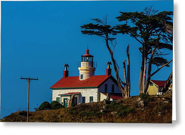 Battery Point Lighthouse Cresent City Greeting Card by Garry Gay