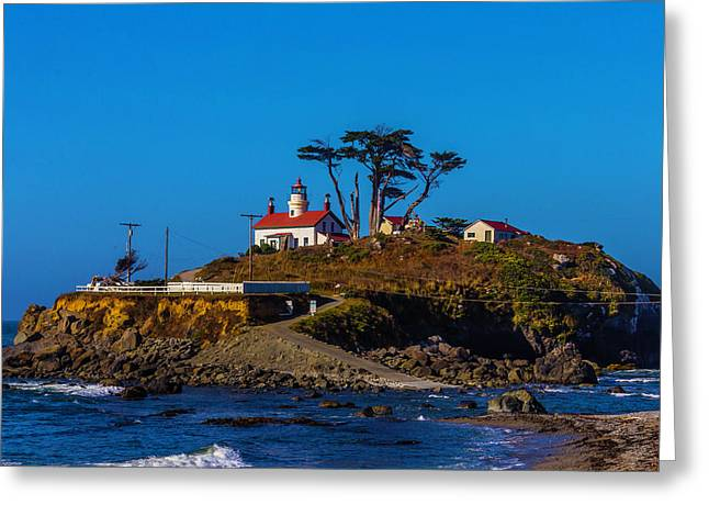 Battery Point Lighthouse Greeting Card by Garry Gay