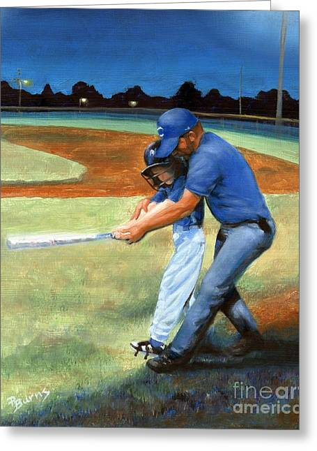 Batting Coach Greeting Card