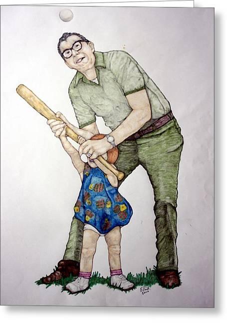 Batting Practice No 1 Greeting Card by Edward Ruth