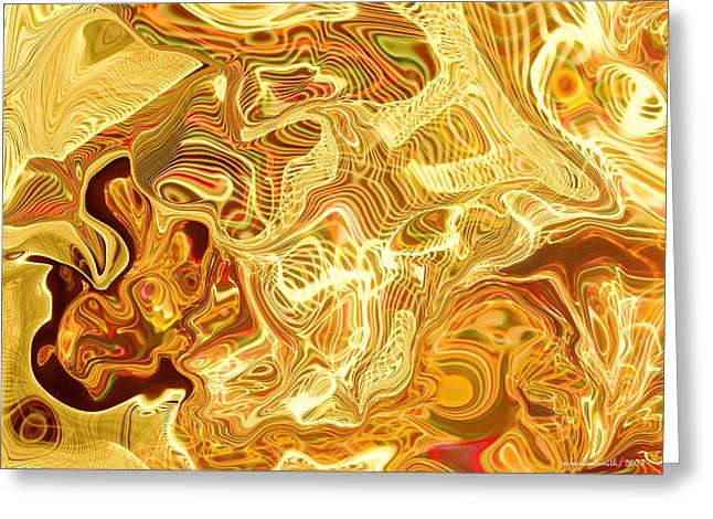 Battle Creek Christmas Lights Abstract Greeting Card by Michelle  BarlondSmith