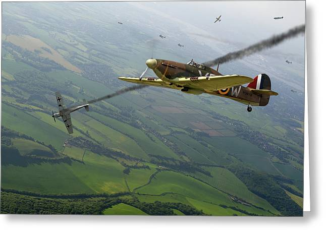 Battle Of Britain Dogfight Greeting Card