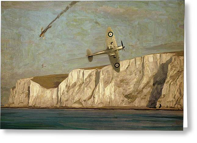 Battle Of Britain Over Dover Greeting Card