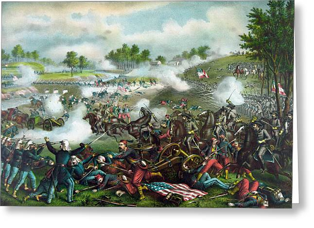 Battle Of Bull Run - Civil War  Greeting Card by War Is Hell Store