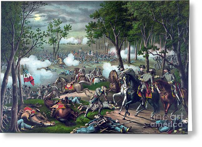 Battle Of Chancellorsville, 1863 Greeting Card by Science Source