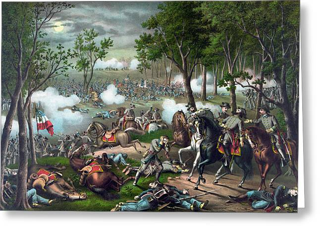 Battle Of Chancellorsville - Death Of Stonewall Greeting Card