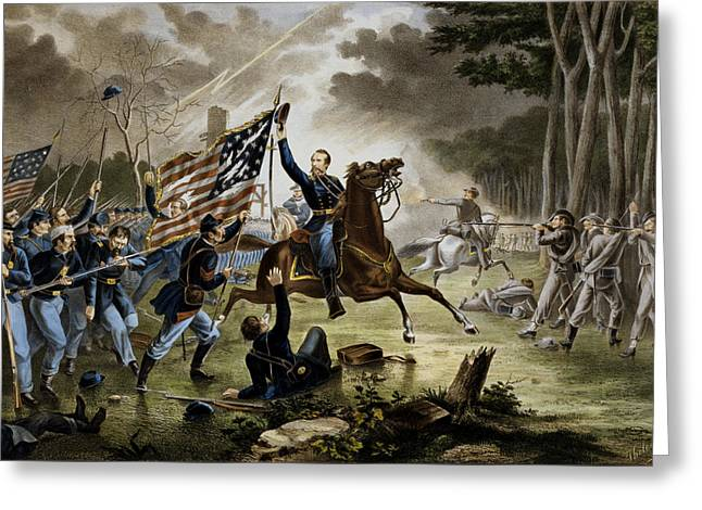 Battle Of Chantilly - Civil War Greeting Card by War Is Hell Store