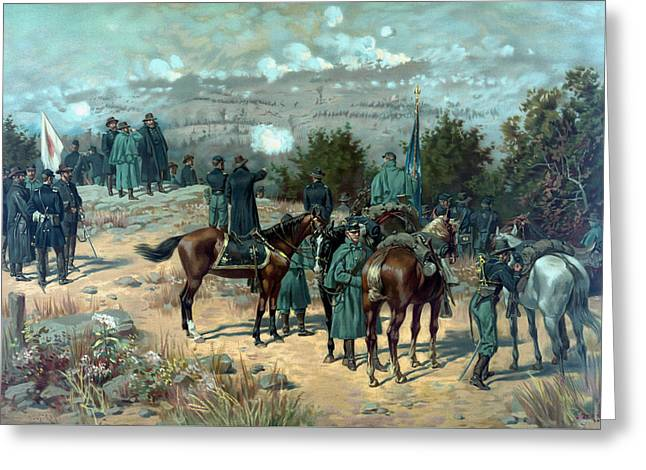 Battle Of Chattanooga - Missionary Ridge Greeting Card